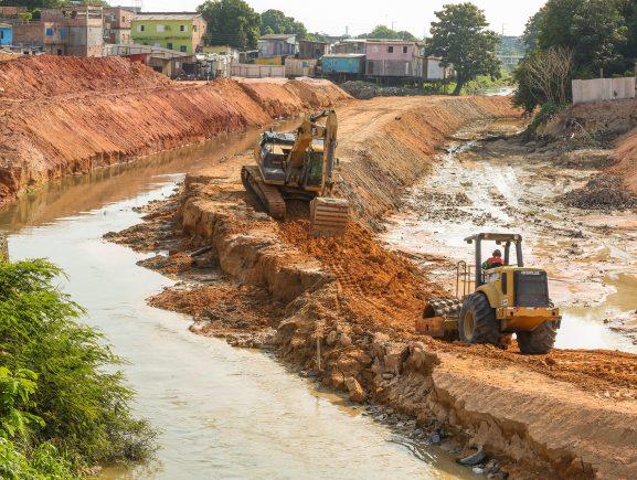 Governo do Estado conclui desvio no igarapé do 40 para requalificação urbanística da área