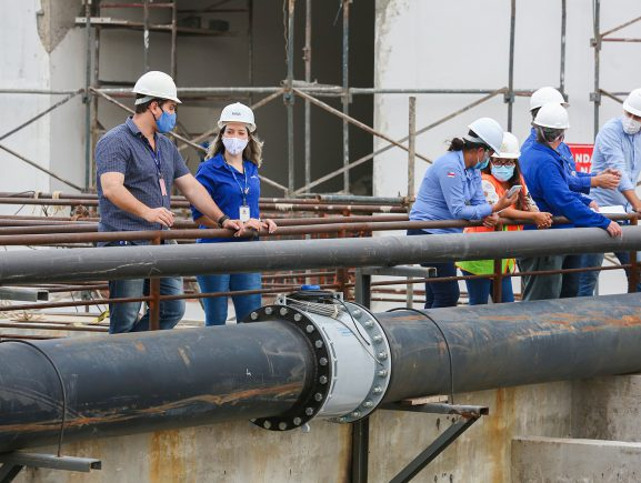 UGPE e Águas de Manaus inspecionam a Estação de Tratamento de Esgoto do Prosamim