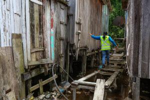 Governo conclui levantamento das moradias na comunidade da Sharp